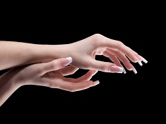Services and prices for nail extension and nail art: