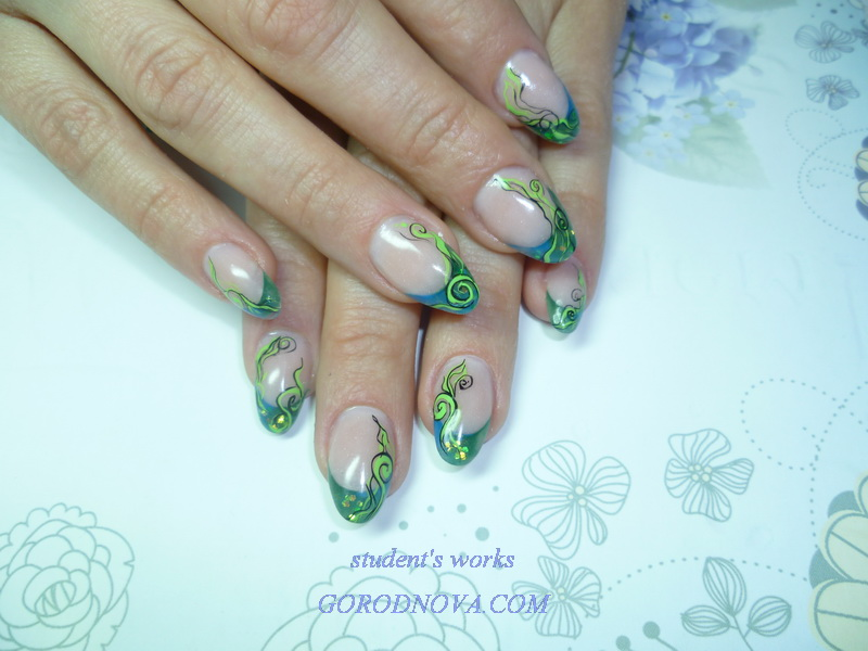 nail extension courses, Moscow, french, acrylic,