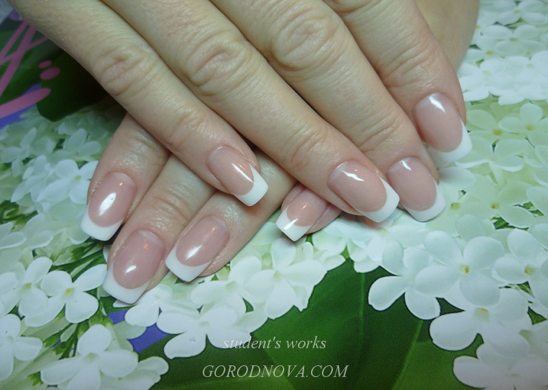 Nail Technician Course, french, nail extension training