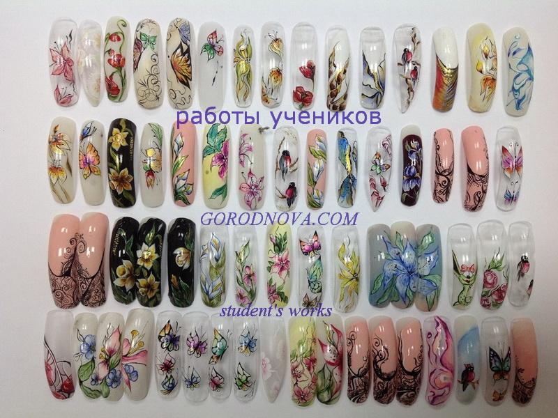 Painting nail art - Student\'s works - Inna Gorodnova - Nail art ...
