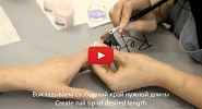 Acrylic nail enhancement. Video by Inna Gorodnova