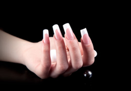 Salon French nails, nail extension coursesSalon French, nail extension courses