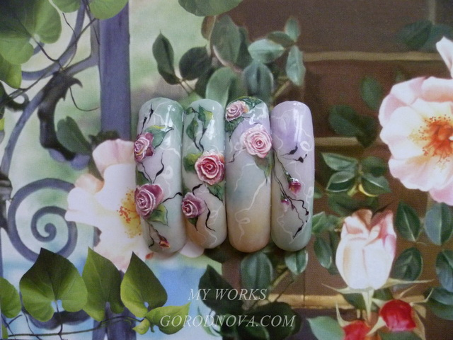 Acrylic Nail Design training courses. Roses. Macy's. Florists.