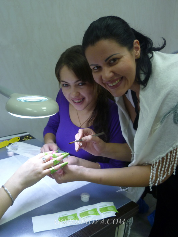 "In Kazan from November 4 till November 8, 2012 passed the author's course ""Nail Modeling and Design"" (Acrylic)."